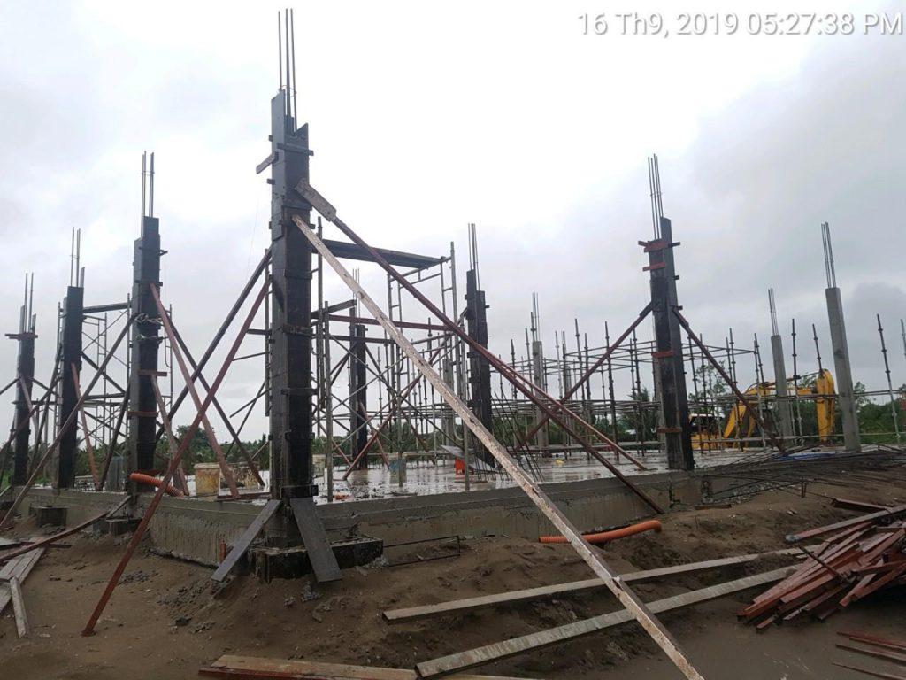 Giai đoạn thi công nhà máy rác Trà Vinh công suất 150 tấn/ngày